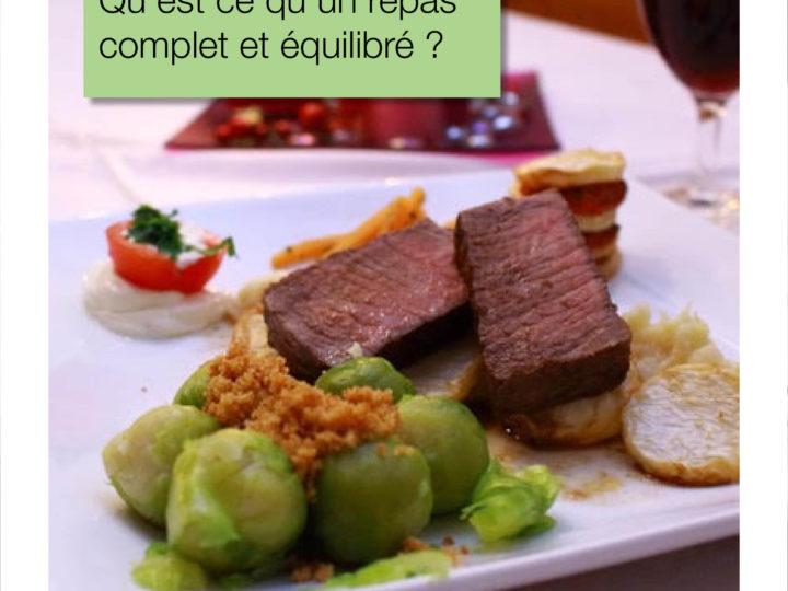 Qu'est-ce qu'un repas complet et équilibré ?